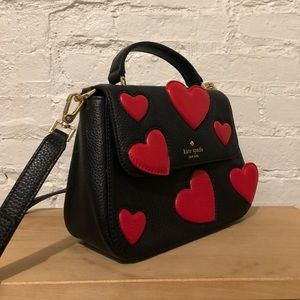 Kate Spade Heart Appliqué Shoulder Bag